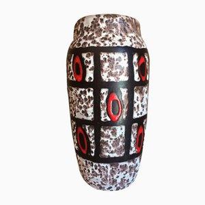 Moderne Mid-Century Vase mit Fat Lava Lasur von Scheurich, 1950er