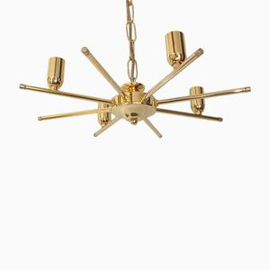 Brass Chandelier, 1980s