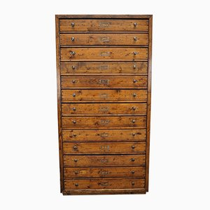 Large Dutch Pine Apothecary Cabinet, 1940s