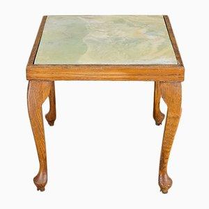 Tavolino o sgabello con piastrelle, anni '40