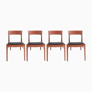 Dänische Mid-Century Esszimmerstühle von Korup Stolefabrik, 4er Set