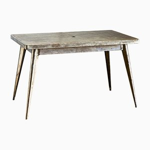 Model T55 Stripped Metal Table by Xavier Pauchard for Tolix, 1940s