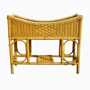Vintage Rattan Plant Stand, 1970s