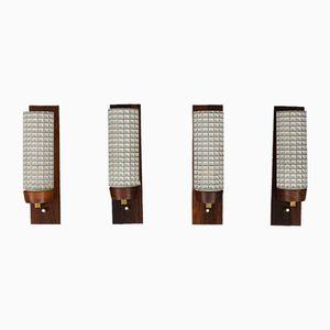 Wandlampen aus Palisander von Lyfa, 1960er, 4er Set