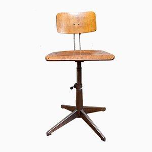 Wooden Swivel Chair from Bamefa, 1960s