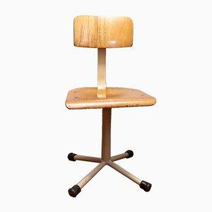 Chaise de Docteur Pivotante Vintage en Bois