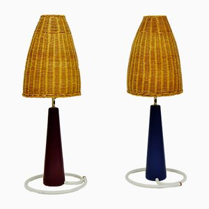 Cone Table Lamps from Bergboms, 1950s, Set of 2
