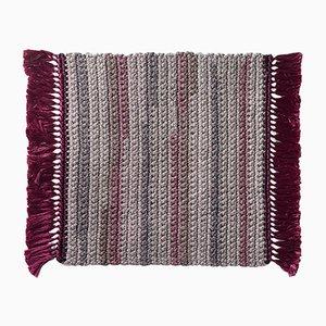 Tapis en Crochet Artisanal de Coton et Polyester par Iota Hand Stitched