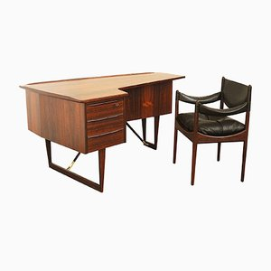 Writing Desk by Peter Lovig Nielsen & Chair by Kristian Vedel for Hedensted, 1950s
