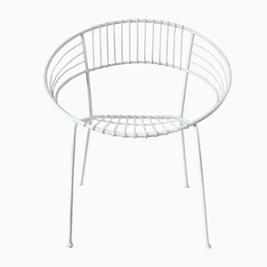 White Powder Coated Garden Chair, 1970s