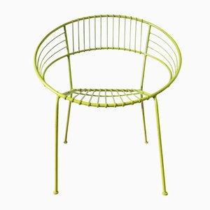 Chaise de Jardin Enduite Vert Clair, 1970s