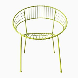 Light Green Powder Coated Garden Chair, 1970s