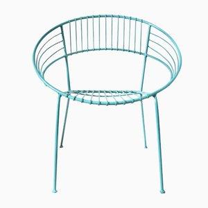 Chaise de Jardin Enduite Turquoise, 1970s