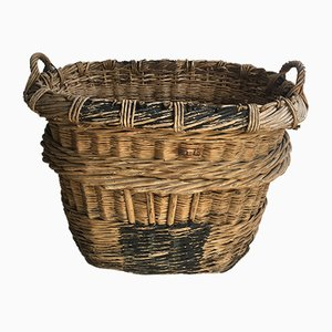 Large Vintage Vineyard Wicker Basket