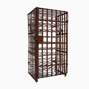 Industrial Iron Wine Rack from L&C Arnold, 1920s