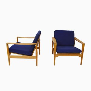 Scandinavian Modern Easy Chairs by Illum Wikkelsø for Niels Eilersen, 1960s, Set of 2