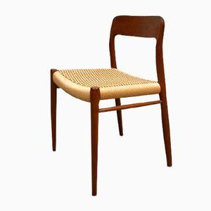 Vintage No.75 Danish dining chair by Niels Otto (N. O.) Møller for Møller Mobelfabrik