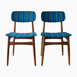 Scandinavian Teak Chairs, 1960s, Set of 2