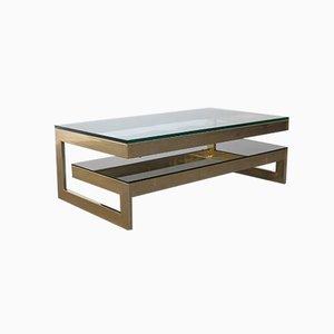 Table Basse en Forme de G Vintage en Plaqué Or 23 Carats