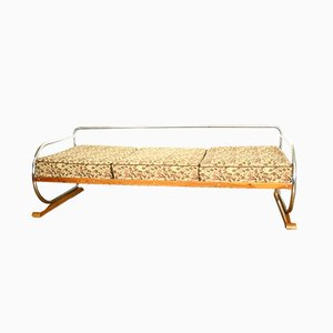 Vintage Daybed with Chrome-Plated Structure