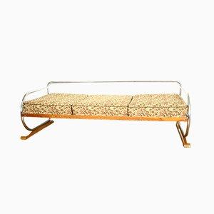 Vintage Tagesbett mit verchromtem Gestell