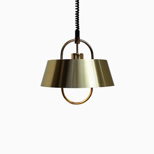 Herkules Brass Pendant Lamp by Jo Hammerborg for Fog & Mørup, 1970s