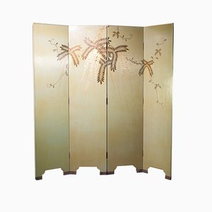 Art Deco French Four Fold Room Divider, 1940s