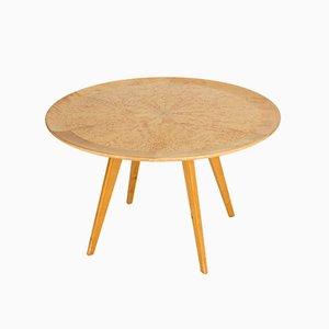 Tavolino da caffè in legno di betulla di Elias Svedberg per Nordiska Kompaniet, anni '50