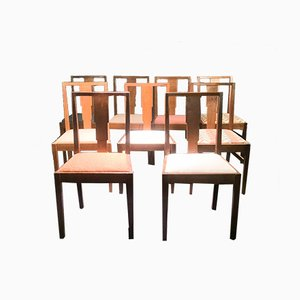 Dining Chairs from Gordon Russell, 1930s, Set of 9