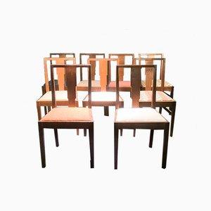Esszimmerstühle von Gordon Russell, 1930er, 9er Set