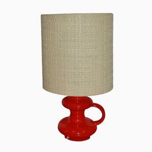 Lámpara de mesa con base de cerámica, años 70