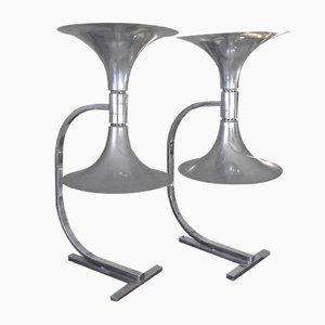 Vintage Tischlampen von Franco Albini für Sirrah, 2er Set