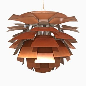 Artichoke Hanging Lamp in Copper by Poul Henningsen for Louis Poulsen, 1970s