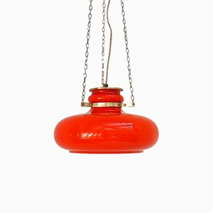 Orange Glass Pendant from Vitrika, 1960s
