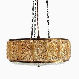 Lámpara colgante Galla de vidrio de Vitrika, años 60
