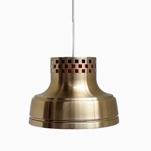 Danish Brass Pendant Lamp, 1960s
