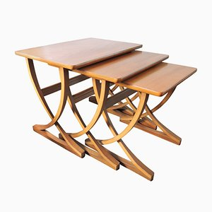 Mid-Century Teak Nesting Tables from Nathan, 1970s