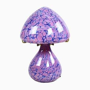 Französische Vintage Pilzform Tischlampe von Cristallerie La Rochère