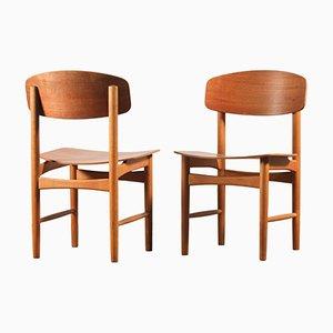Chaises de Salle à Manger Modèle 122 par Børge Mogensen pour Søborg Møbelfabrik, Set de 2