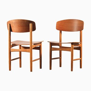 Model 122 Dining Chairs by Børge Mogensen for Søborg Møbelfabrik, Set of 2