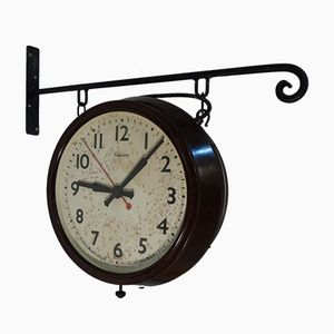 Double Sided Station Clock from Genalex, 1920s
