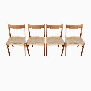 Scandinavian Chairs by Ejnar Larsen & Aksel Bender for Glyngøre Stolefabrik, 1960s, Set of 4