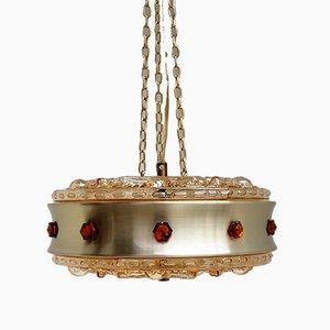 Lámpara Hollywood Regency de vidrio de Vitrika, años 60