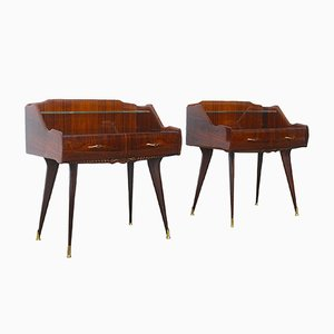 Vintage Paolo Buffa Style Nightstands, Set of 2