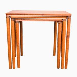 Tavolini ad incastro in teak di E.W. Bach per Toften Møbelfabrikken, Danimarca, anni '60