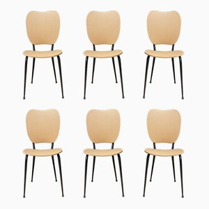 Französische Skai Stühle, 1960er, 6er Set
