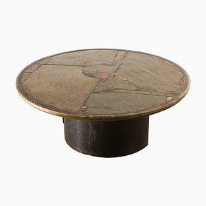 Slate Stone Art Work Coffee Table by Paul Kingma, 1992