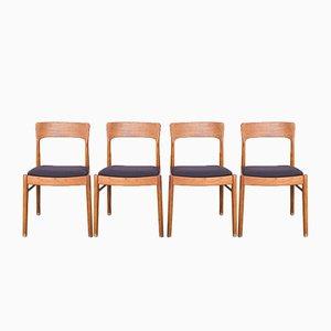 Danish Teak Chairs by Kai Kristiansen for Korup Stolefabrik, 1960s, Set of 4