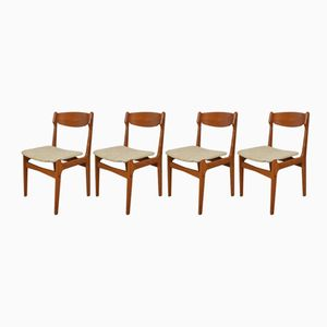 Danish Teak Dining Chairs, 1960s, Set of 4