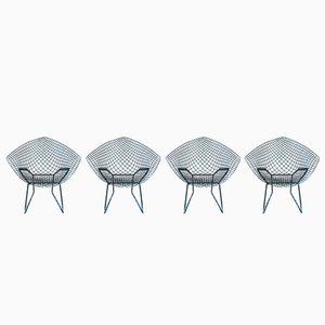 Sedia Diamond vintage di Harry Bertoia per Knoll, set di 4